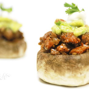 Carne Asada Stuffed Mushrooms