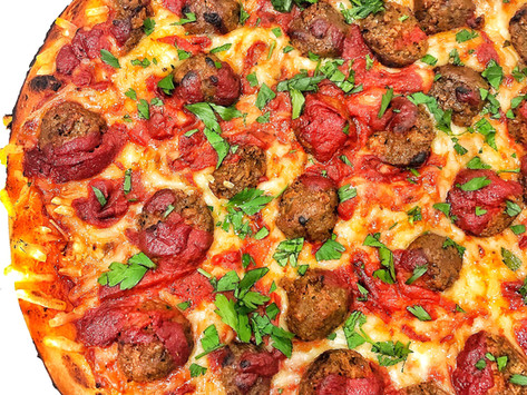 Vegan Meatball Pizza