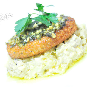 Parsley 'Chicken' Cauli-Mash