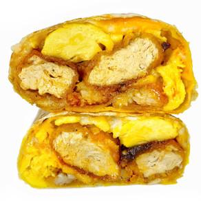 Nashville Hot Chicken Breakfast Burrito (vegan)