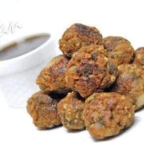 Balsamic Sage Sausage-less Bites