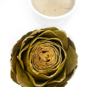 Artichoke with Creamy Balsamic Dipping Sauce