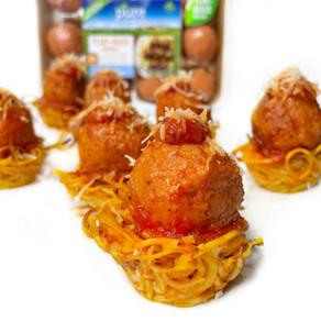 Spaghetti & Meatball Cups (Vegan)