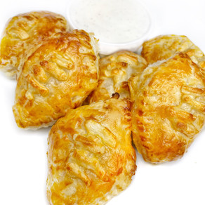 Vegan Buffalo Chicken Football Pastries