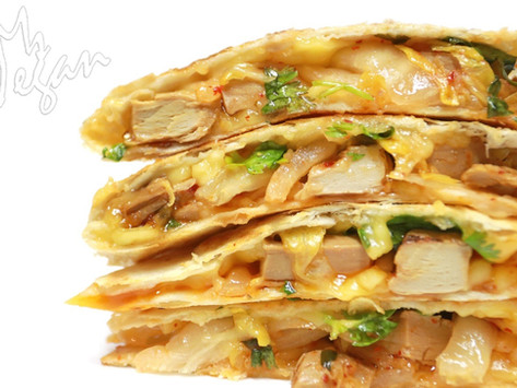 Kimchi 'Chicken' Quesadillas