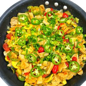 One Pan Jalapeño Vegan Chicken