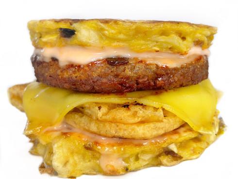 Matzo Brei Breakfast Sandwich