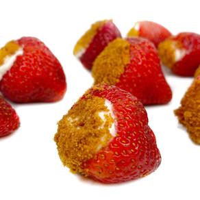 Vegan Cheesecake Filled Strawberries