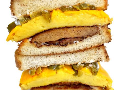 Cowboy Breakfast Sandwiches (vegan)