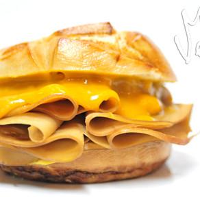 Cheesy Pretzel Sandwich