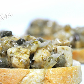 Chicken-less Piccata on Toast