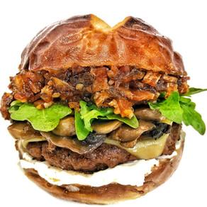 Bacon Onion Jam Mushroom Burger
