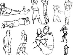 Man in Many Quick Poses