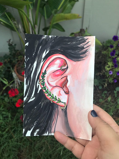 Gouache Ear Study