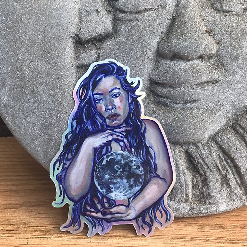 """Moonstruck"" Holo Sticker"