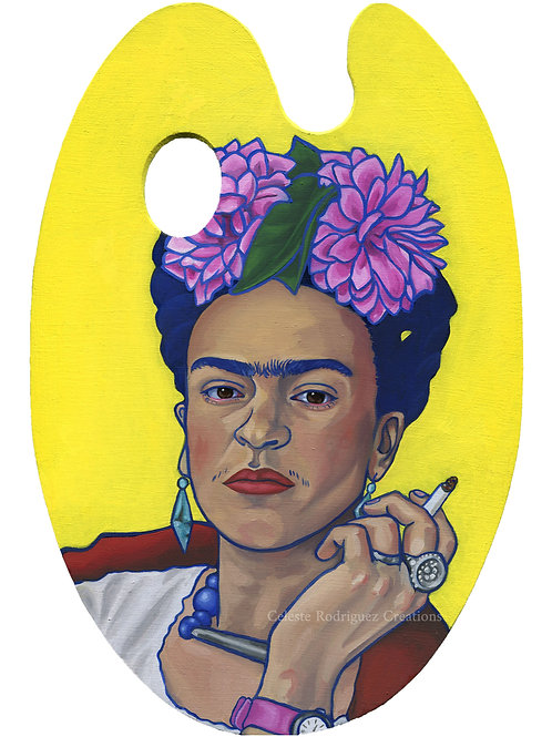 """Frida On Paint Palette"" Print"