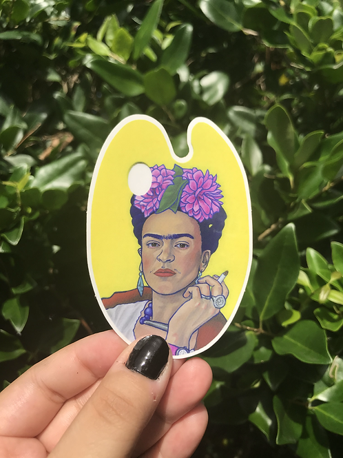"""Frida on Paint Palette"" Sticker"