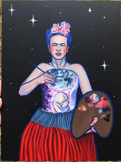 """Moon Art"" Original"
