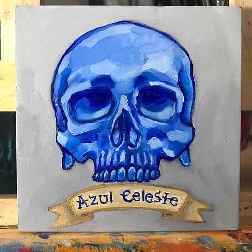 """""""Skull Study in Blue"""" Original"""