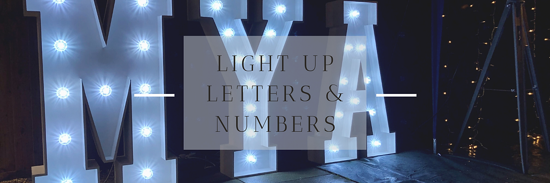 Light Up Letters & Numbers in Hertfordshire, Bedfordshire, Buckinghamshire, Essex & London