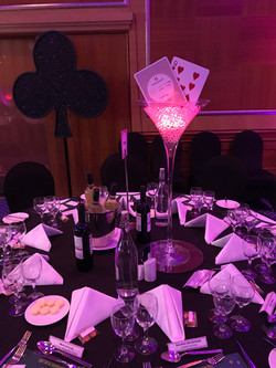 Casino Themed Table Centrepieces