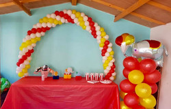 Circus Themed Cake Table Arch
