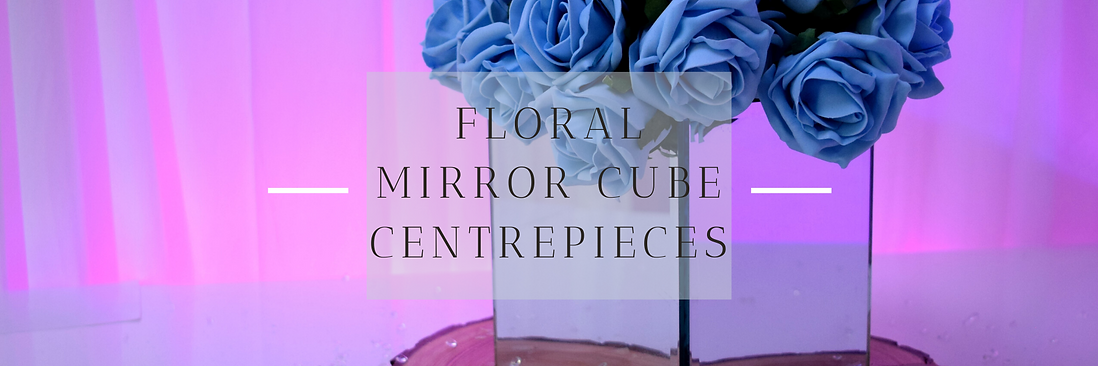 Floral Mirror Cube Centrepieces in Hertfordshire, Bedfordshire, Buckinghamshire, Essex & London