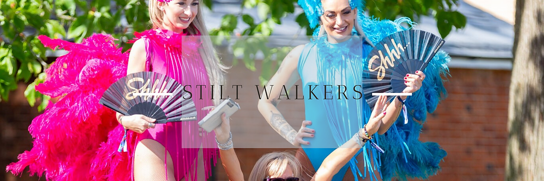 Stilt Walkers in Hertfordshire, Bedfordshire, Buckinghamshire, Essex & London
