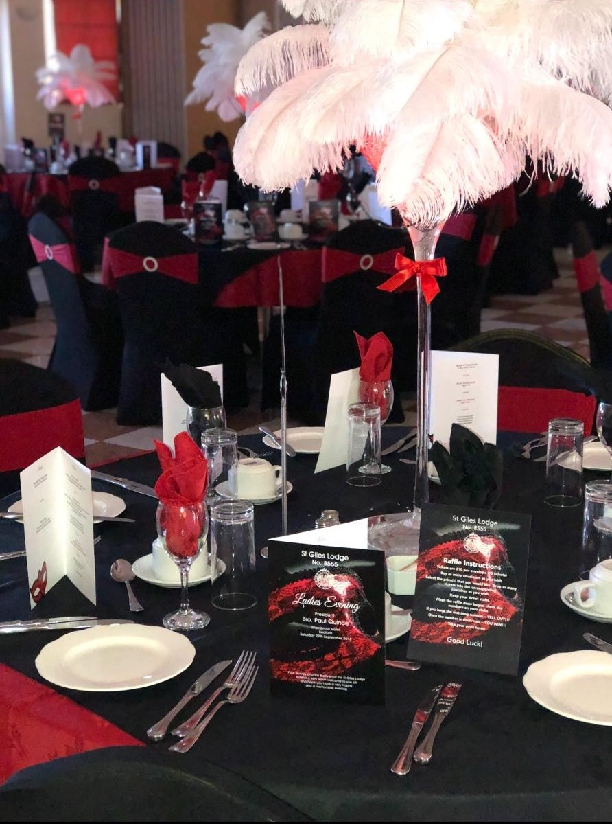 Feather Martini Centrepiece Hire in Hertfordshire, Bedfordshire, Buckinghamshire, Essex & London
