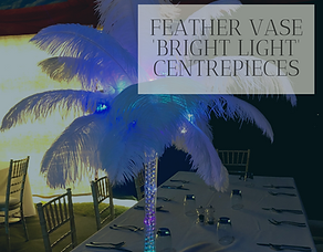 Feather Vase Centrepiece Hire in Hertfordshire, Bedfordshire, Buckinghamshire, London & Essex
