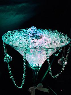 Diamante Martini Glass Centrepiece Hire in Hertfordshire