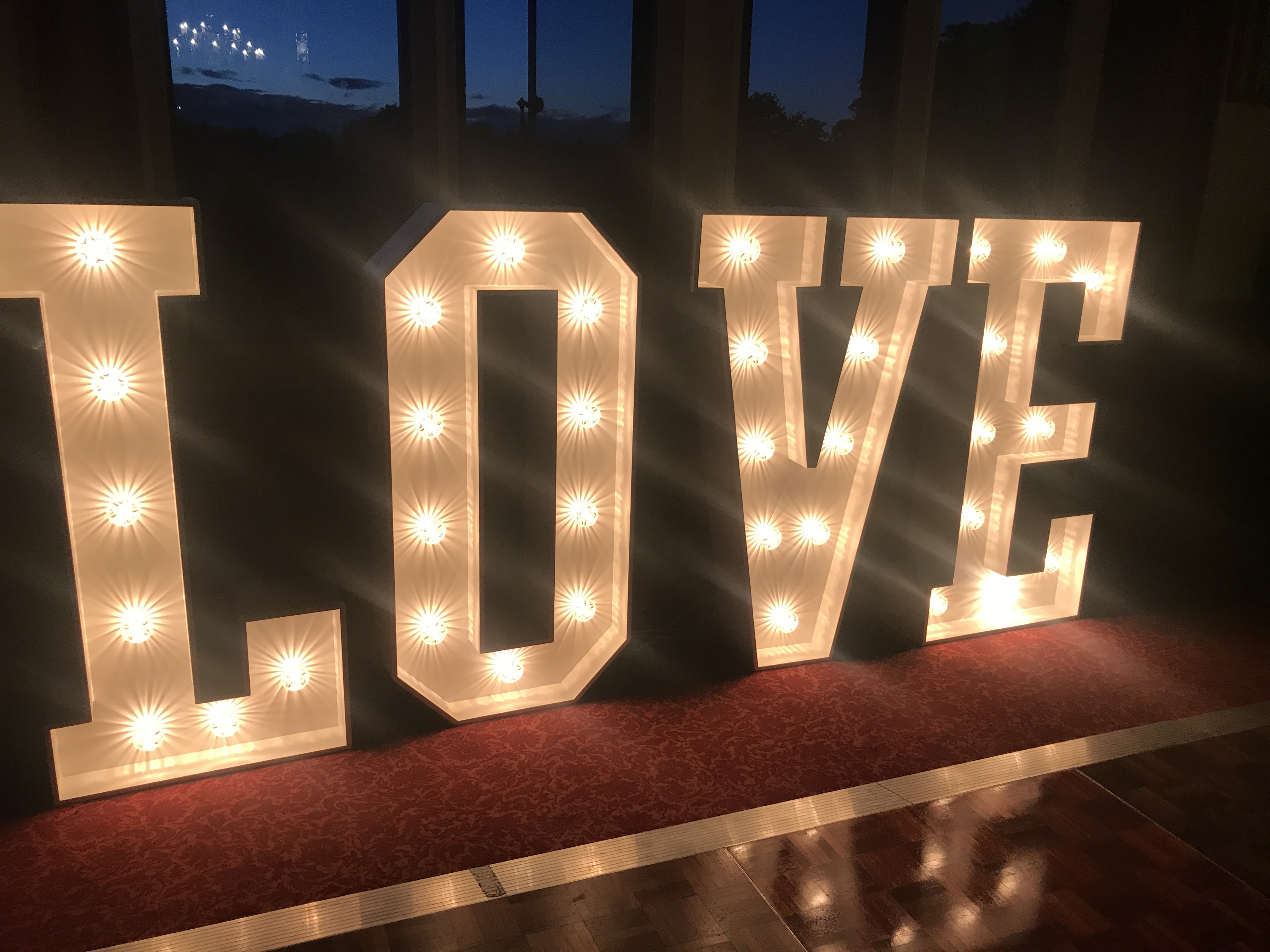 Light up LOVE Letter Hire