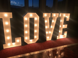 Light up LOVE Letter Hire