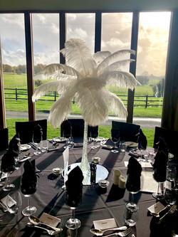 Feather Vase Centrepiece Hire in Hertfordshire, Bedfordshire, Buckinghamshire, Essex & London