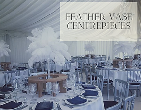 Feather Vase Centrepiece Hire in Hertfordshire, Bedfordshire, Buckinghamshire, London