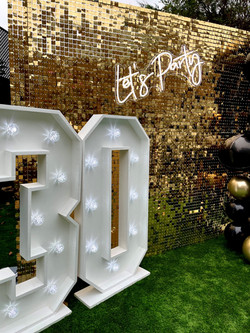 Shimmer Wall Hire in Hertfordshire
