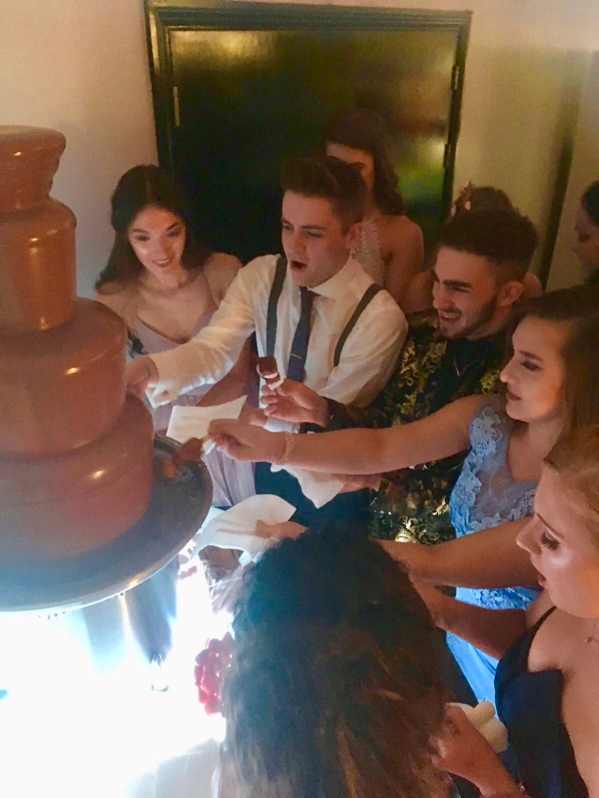 Chocolate fountain in Hertfordshire