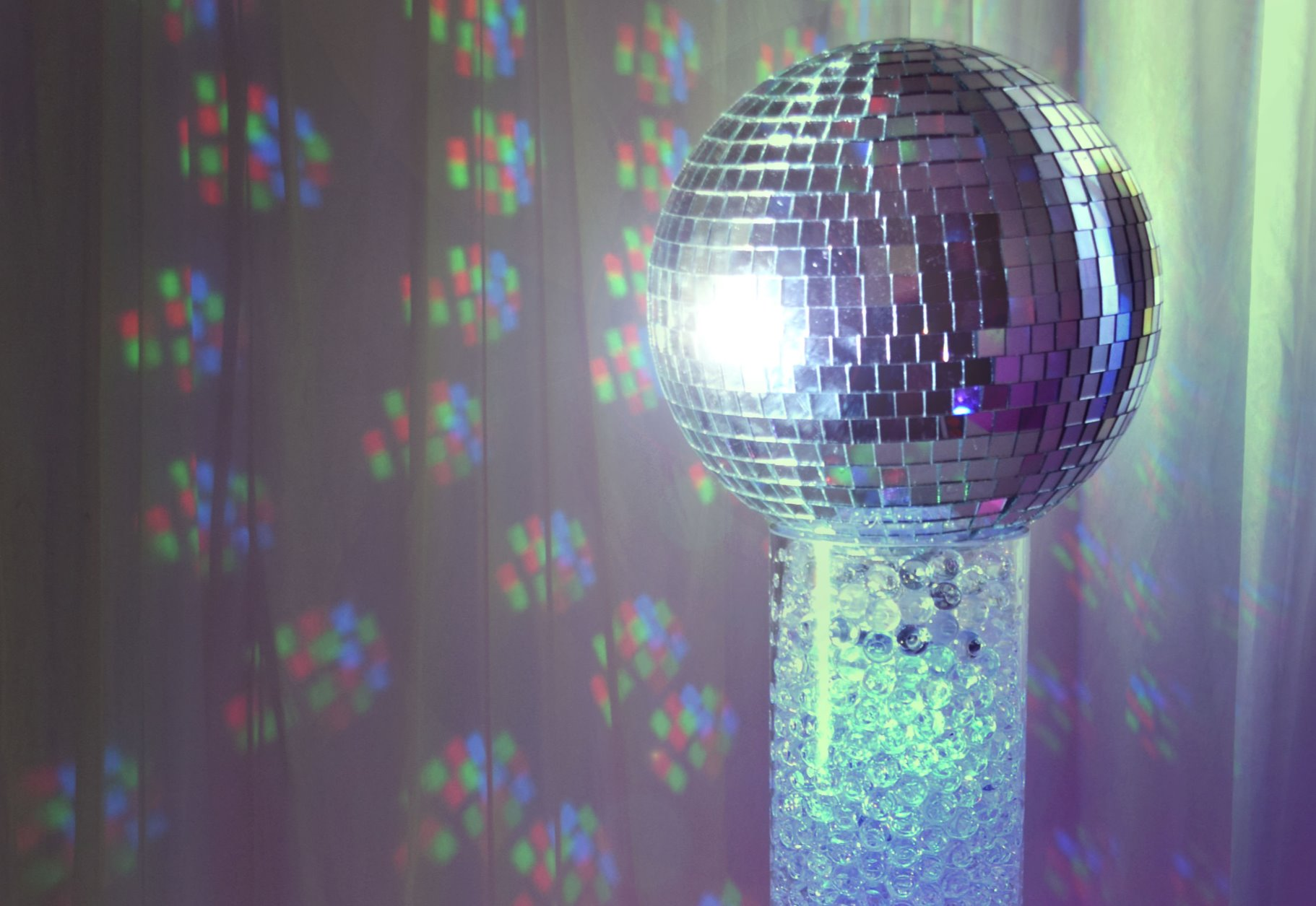 Mirror Ball Cylinder Centrepiece Hire in Hertfordshire, Bedfordshire, Buckinghamshire, Essex & Londo