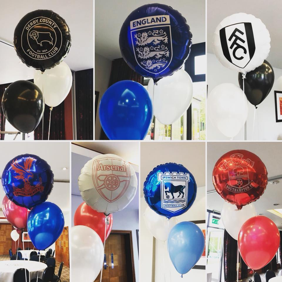Football Themed Balloon Clusters