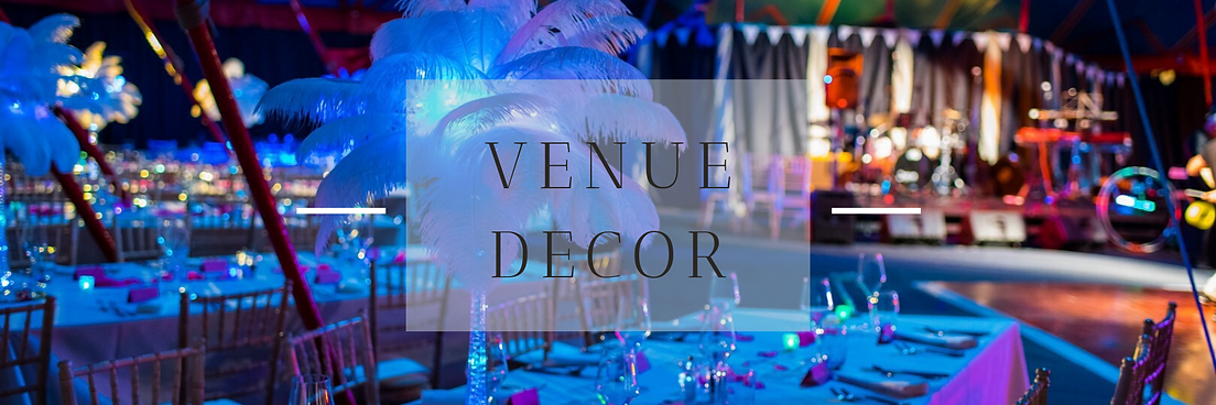 Venue decor hire in Hertfordshire, Bedfordshire, Essex & London