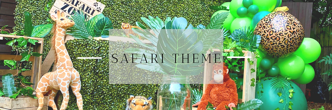 Safari Themed Party Decor in Hertfordshire, Bedfordshire, Buckinghamshire, Essex & London
