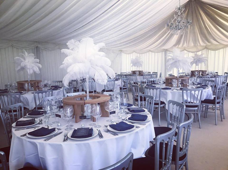 Feather Vase Centrepiece Hire in Hertfordshire, Bedfordshire, Buckinghamshire, Essex & London