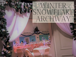 Winter Snowflake Archway Hire, Hertfordshire, Bedfordhire,Essex and London