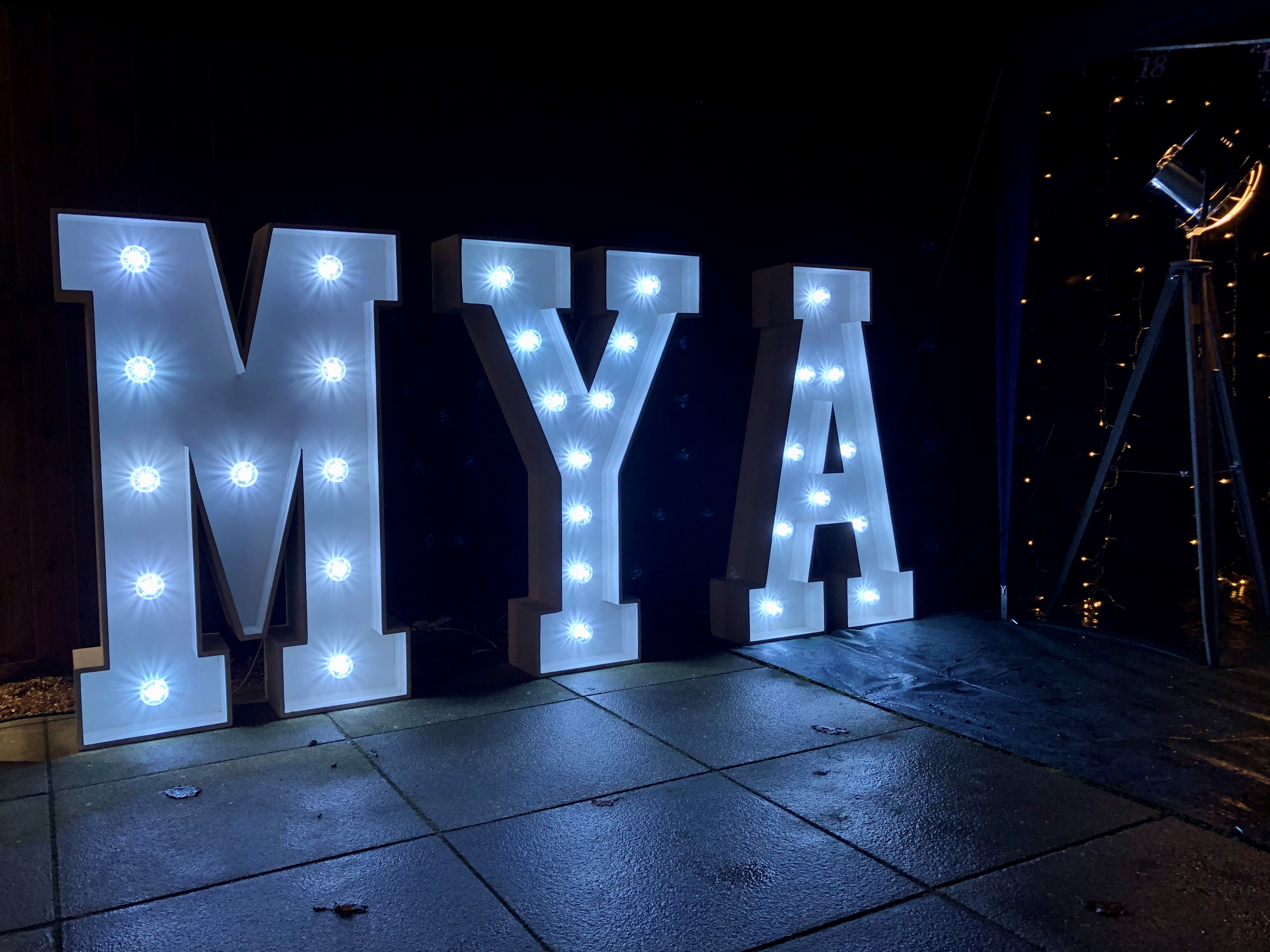 Light Up Letter Hire in Hertfordshire