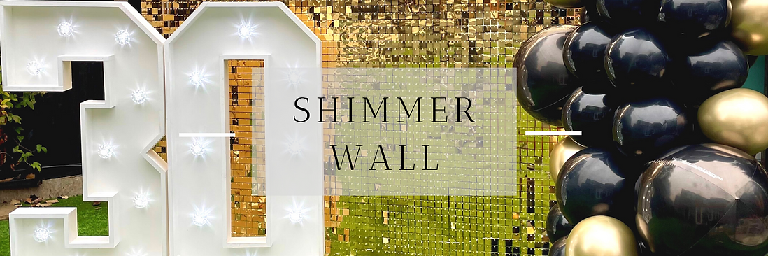 Shimmer Wall Hire in Hertfordshire, Bedfordshire, Buckinghamshire, Essex & London