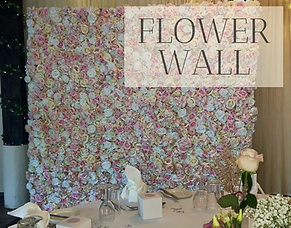 Flower wall hire in Hertfordshire, Bedfordshire, Essex & London