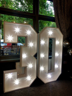 Light Up Number Hire in Hertfordshire