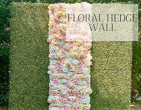 Floral Hedge Wall hire available in Hertfordshire, Bedfordshire, Essex & London