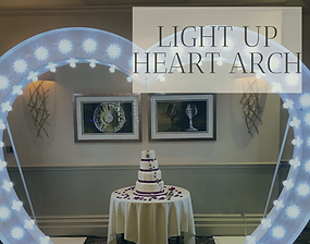 Light Up Heart Arch hire in Hertfordshire, Bedfordshire, Essex and London