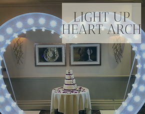Light Up Heart Arch hire in Hertfordshire, Bedfordshire, Essex & London